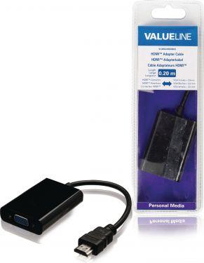 Valueline VLMB34900B02 High Speed Hdmi-Kabel HDMI-Stik - VGA Hun 0.20 m Sort