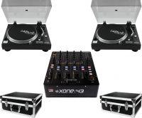 A&H Xone43 DJ mixer 2 x Omnitronic DD-2520 Pakketilbud