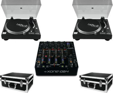 A&H Xone DB4 mixer 2 x Omnitronic DD-2520 Pakketilbud