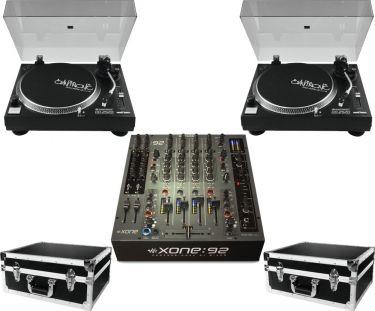 A&H Xone92 mixer 2 x Omnitronic DD-2520 Pakketilbud