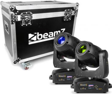 BeamZ professional IGNITE180 Spot LED Moving Head 2 stk. i Flightcase