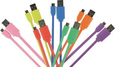 Valueline VLMP60410O1.00 Usb 2.0-Kabel USB A Han - Micro B Han Fladt 1.00 m Orange