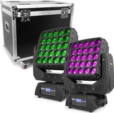 BeamZ professional Matrix55 LED Moving Head 2 stk. i Flightcase