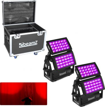 BeamZ Star-Color 720 Double Wash 2 x Star color 720 1x Flightcase - Pakketilbud
