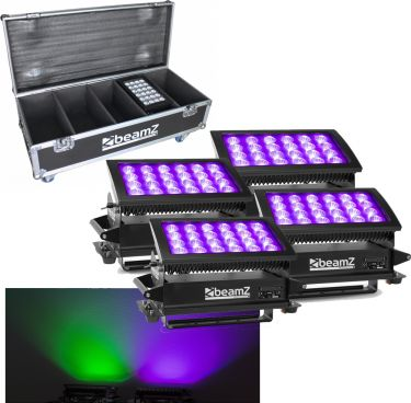 BeamZ Star-Color 240 Wash 4 x Star color 240 1x Flightcase - Pakketilbud