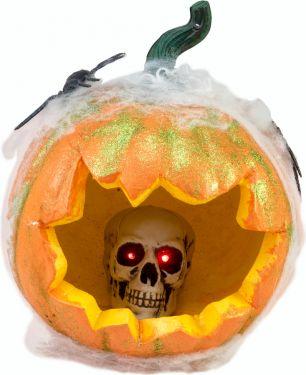Europalms 10a18g38 Halloween Pumpkin In Spider Web 25cm