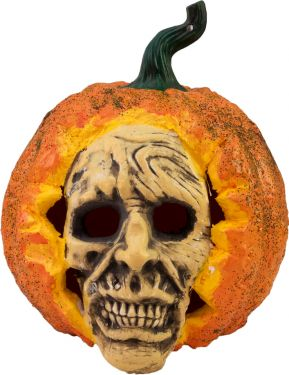 Europalms 10a19g62 Halloween Skull Pumpkin 26cm Udsmykning