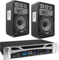 Fenton FPA600 MP3, BT, USB & Vonyx TX12 PA - Pakkesæt