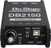 On-Stage aktiv USB Di boks stereo