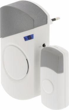 Valueline Wireless Doorbell Set Mains Powered 70 dB White/Grey, SVL-WDB301