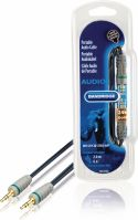 Bandridge Stereo Audio Cable 3.5 mm Male - 3.5 mm Male 2.00 m Blue, BAL3302