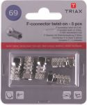 Triax Coax Adapter XLR F Female - F-Connector Male Aluminium, 153254