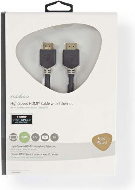 Nedis High Speed HDMI™ Cable with Ethernet   HDMI™ Connector - HDMI™ Connector   5.0 m   Anthracite,