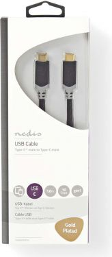 Nedis USB 3.1 Cable (Gen1) | Type-C Male - Type-C Male | 1.0 m | Anthracite, CCBW64700AT10