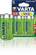 Varta Rechargeable NiMH Battery D 1.2 V 3000 mAh 2-Blister, 56720.101.402