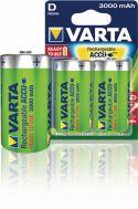 Varta Genopladeligt Nimh Batteri D 1.2 V 3000 mAh 2-Bobler, 56720.101.402