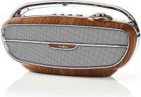 Nedis FM Radio | 60 W | Bluetooth® | Brown / Silver, RDFM5300BN