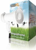 basicXL Megaphone 15 W Built-In Microphone White, BXL-MP100