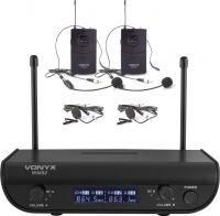 WM82 Digital UHF 2 channel Wireless Microphone set with 2 bodypacks