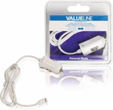 Valueline Biloplader 1-Udgang 2.4 A Apple Lightning Hvid, VLMB39891W10