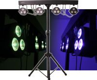 Scandlight T-BAR Lightset MKII, Lightpackage RGBW with stand and fo