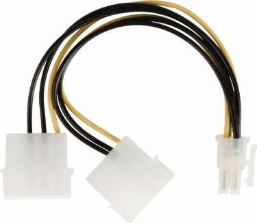 Valueline Internal Power Cable 2x Molex Male - PCI Express Female 0.15 m, VLCP74210V015