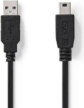 Nedis USB 2.0 Cable | A Male - Mini 5-Pin Male | 2.0 m | Black, CCGB60300BK20
