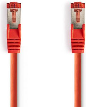 Nedis Cat 6 S/FTP Network Cable | RJ45 Male - RJ45 Male | 0.25 m | Red, CCGP85221RD025
