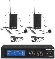 WM522B VHF 2-Channel Microphone Set with 2 Bodypacks