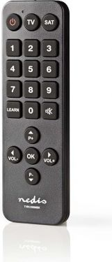 Nedis Universal Remote Control | Large Buttons | Pre-programmed | Control 2 Devices, TVRC20SNBK