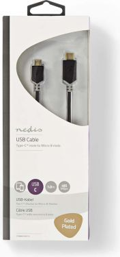 Nedis USB 2.0 Cable | Type-C Male - Micro B Male | 1.0 m | Anthracite, CCBW60750AT10