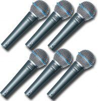 SHURE BETA 58A Dynamisk mikrofon til tale og sang - Pakkesæt