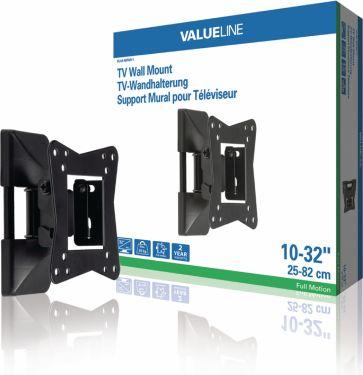 """Valueline Tv Vægbeslag Fuldt Bevægeligt 10 - 32 """" 30 kg, VLM-MFM11"""