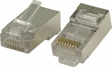 Valueline Connector RJ45 Stranded STP CAT6 Male PVC Transparent, VLCP89307M