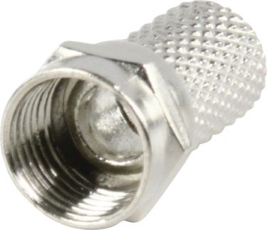 Valueline F-Connector 7.0 mm Male Metal Silver, FC-001