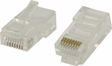 Valueline Stik RJ45 Solid UTP CAT5 Han PVC Gennemsigtig, VLCP89300T