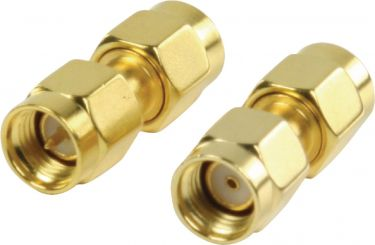 Valueline SMA Adapter RP SMA Male - SMA Male Gold, VLSP02110A