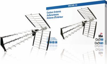 Valueline DVB-T/T2 Outdoor Antenna 15 dB UHF, VLS-UHF51L