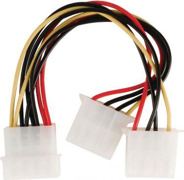 Valueline Internal Power Cable Molex Male - 2x Molex Female 0.15 m, VLCB74020V015
