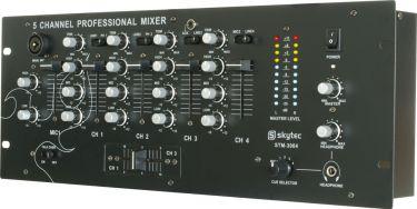 """DJ Mixer STM-3004 4-kanals med Crossfader og Equalizer / 19"""" rack montering"""