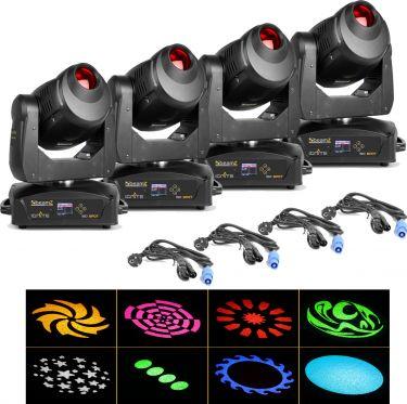BeamZ professional IGNITE150 LED Spot Moving Head - Pakke med 4 stk.
