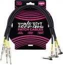 Ernie Ball EB-6076 Patch Cable, High quality patch cable 45 cm, bla