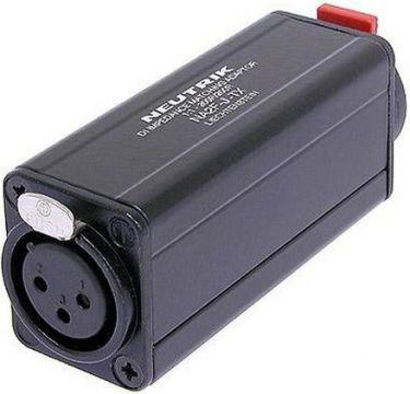 "Adapter med transformer 1:1 XLR hun til 1/4"" mono jack"
