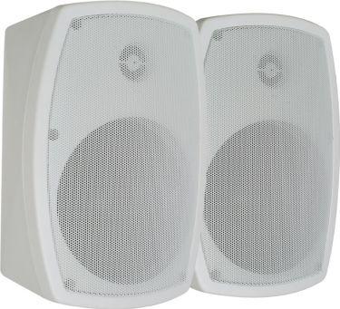 """Udendørs-højtaler ISP5W 8 Ohm / 5"""" 120W, hvid (sæt)"""