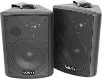 """Kompakt højttalersæt med vægmonteringsbøjle / 8 Ohm / 6.5"""" bas 120W, sort"""