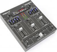 DJ Mixer STM2270 4-kanals med lydeffekter, Bluetooth, USB/SD/MP3-afpiller