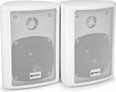 """Kompakt højttalersæt med vægmonteringsbøjle / 8 Ohm / 4"""" bas 75W, hvid"""