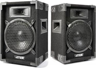 """Højttalersæt i populært disco-look 2-vejs med 8"""" bas / 400W (pris er for 2 højttalere)"""