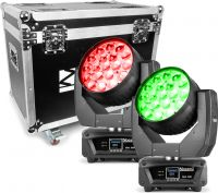 MHL1915 LED Zoom Moving Head 2 pieces in Flightcase