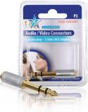 HQ Stereo Audio Adapter 6.35 mm Male - 3.5 mm Female Silver, HQS-SAC007